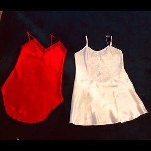 2 Victoria's Secret above knee nightgowns.